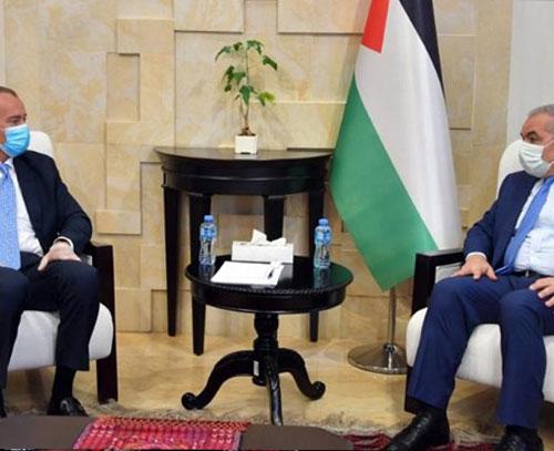دیدار نخست وزیر تشکیلات خودگردان و نماینده سازمان ملل در امور آنروا