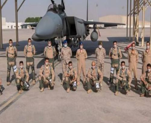 عربستان از رزمایش هوایی مشترک در پایگاه هوایی «الظفره» خبر داد
