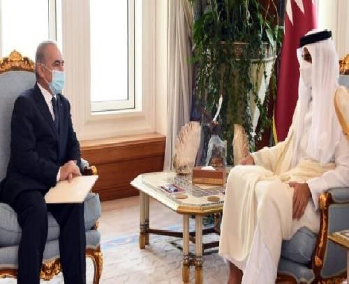 رایزنی امیر قطر و «محمد اشتیه» درباره تحولات فلسطین و بازسازی غزه