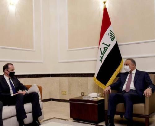 الکاظمی در دیدار با هیئت امریکایی سازوکار خروج نیروهای رزمی امریکایی از عراق را بررسی کرد