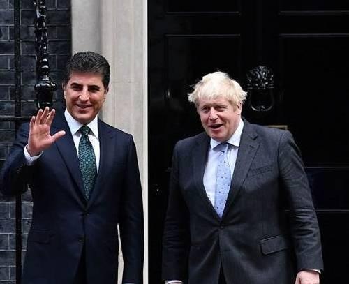 دیدار نچیروان بارزانی با نخست وزیر بریتانیا