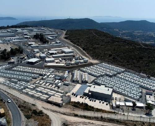 یونان اولین کمپ بسته پناهجویی را در جزیره ساموس افتتاح کرد