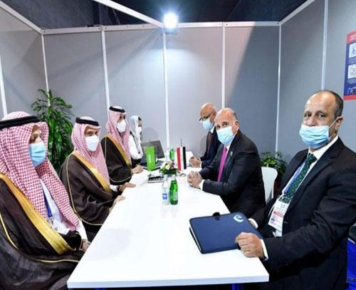 فؤاد حسین در دیدار با همتای عربستانی خود