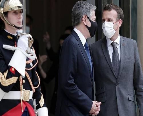 دیدار ماکرون با بلینکن؛ پاریس و واشنگتن در مسیر اعتمادسازی پس از بحران زیردریاییها
